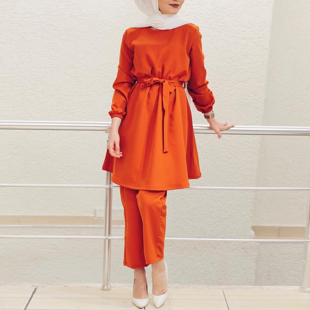 Ruma Two Piece Simplicity Modest Pantsuit