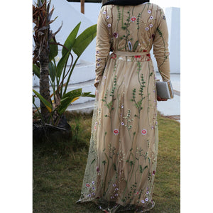 Deena Floral Exotic Lace Modest Dress