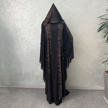 Load image into Gallery viewer, Rhinestone Embellished Faux Two Piece Abaya