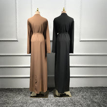 Load image into Gallery viewer, Abaya Kimono Pearl Embellished Large Pockets