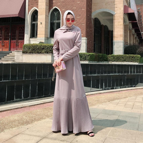 Pleated Modest Dress