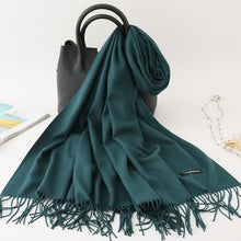Load image into Gallery viewer, Cashmere Pashmina Tassles Hijab