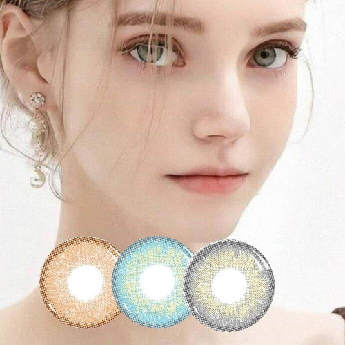 2pcs /1 Pair Rus Girl Series Prescription Colored Contact Lenses for Dark Eyes