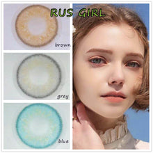 Load image into Gallery viewer, 2pcs /1 Pair Rus Girl Series Prescription Colored Contact Lenses for Dark Eyes