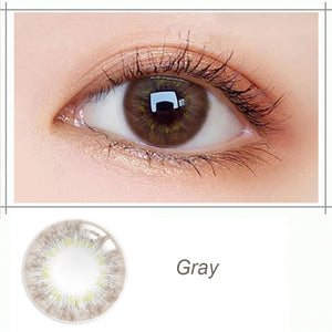 1 Pair(2 pieces) Beautiful Pupil Blossom Series Color Contact Lenses for Dark Eyes