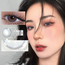 Load image into Gallery viewer, 1 Pair(2 pieces) Beautiful Pupil Blossom Series Color Contact Lenses for Dark Eyes