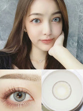 Load image into Gallery viewer, 2pcs /1 Pair Huda Series Big Eyes Prescription Colored Contact Lenses for Dark Eyes
