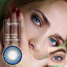 Load image into Gallery viewer, 2pcs/1 pair Egypt Series Natural Looking Colored Contact Lens for Dark Eyes