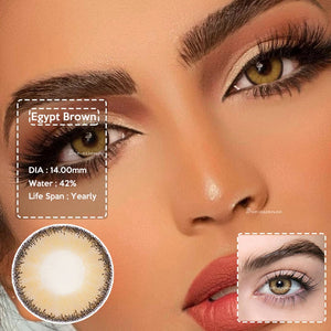 2pcs/1 pair Egypt Series Natural Looking Colored Contact Lens for Dark Eyes