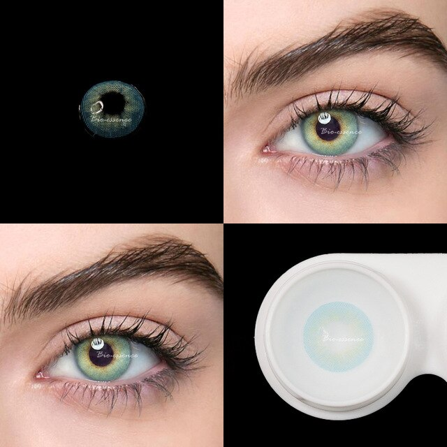2pcs/pair 2pcs Colored Contact Lenses Natural Caramelize Series For Dark Eyes