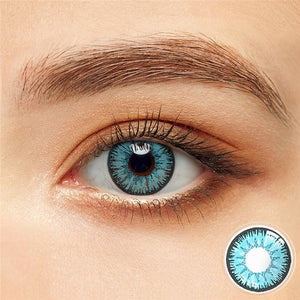 2pcs/1 Pair Magister Blue Series Colored Contact Lenses for Dark Eyes