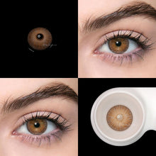 Load image into Gallery viewer, 2pcs/pair Brown New York Series Small Pupil Colored Contact Lenses for Dark Eyes Prescription