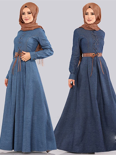 Adamie Denim Swing Modest Dress Plus Size Available