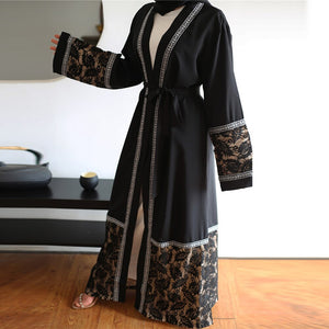 Fridi Dutchess Lace Abaya