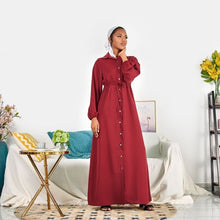 Load image into Gallery viewer, Nida Simplicity Turkish Modest Dress