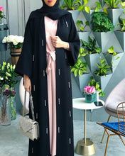 Load image into Gallery viewer, Keena Rhinestones Raindrops Exclusive Abaya Plus Size Available