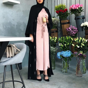 Keena Rhinestones Raindrops Exclusive Abaya Plus Size Available