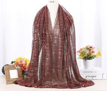 Load image into Gallery viewer, 10 pcs/lot High quality lurex glitter shimmer shawl