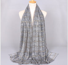 Load image into Gallery viewer, Lurex Glitter Sequin Long Shawl Hijab