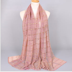 Lurex Glitter Sequin Long Shawl Hijab