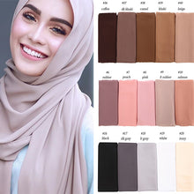Load image into Gallery viewer, 10 pcs/lot Two Face Chiffon Shawl