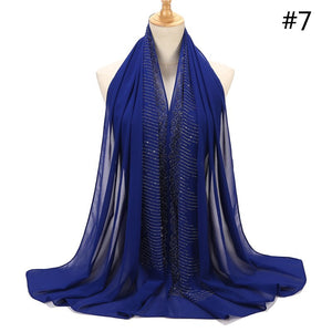 10 pcs/lot Rhinestone Bubble Chiffon Shawl