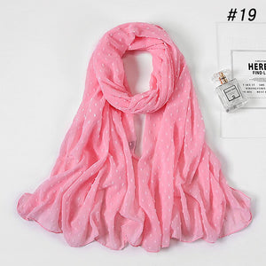 10pc/lot pom pom bubble chiffon Shawl