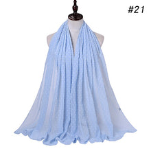 Load image into Gallery viewer, 10pc/lot pom pom bubble chiffon Shawl
