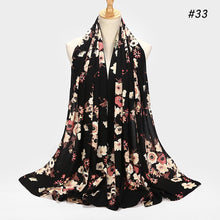 Load image into Gallery viewer, 10 pc/lot Printed Floral Bubble Chiffon Shawls