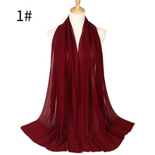 Load image into Gallery viewer, 10 pcs/lot plain pleated bubble chiffon shawl