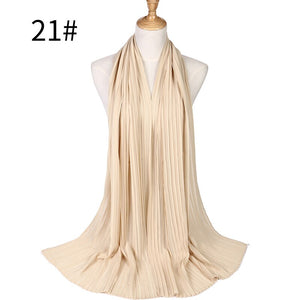 10 pcs/lot plain pleated bubble chiffon shawl