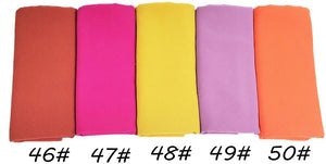 80pcs/lot Plain Bubble Chiffon Shawls All Colors Lot