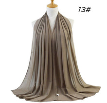 Load image into Gallery viewer, 80pcs/lot Plain Bubble Chiffon Shawls All Colors Lot