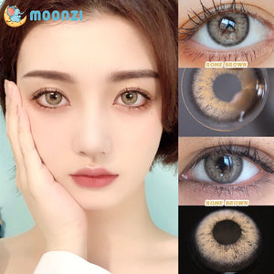 2pc/1 pair Moonzi Kitty Series Colored Prescription Contact Lenses for Dark Eyes