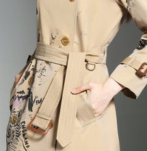 Load image into Gallery viewer, Luxury Haute Couture Printed Trench Coat Outerwear