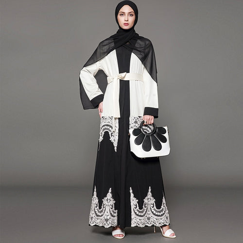 Luxury Lace Modern Abaya Plus Size Available
