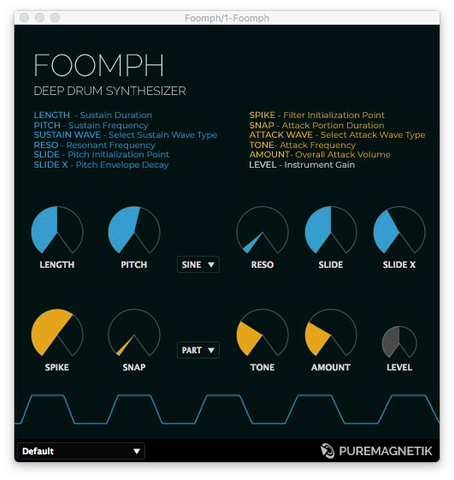 Foomph Deep Drum Synthesizer