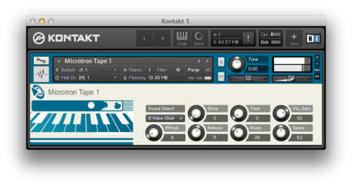 The Microtron Mellotron Kontakt instrument