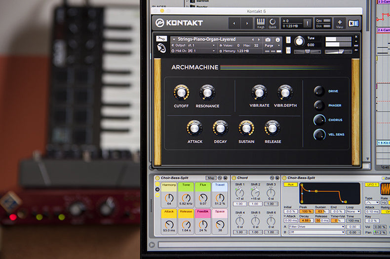 Archmachine Synth String Library Ableton Live Pack, Kontakt and Logic Instrument