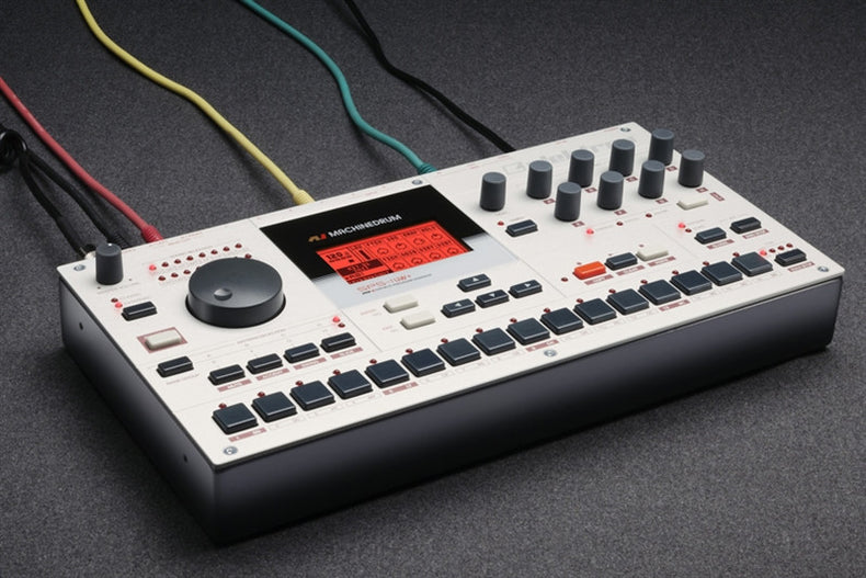An Elektron Machinedrum was deconstructed and reprogrammed as an Ableton Live Pack