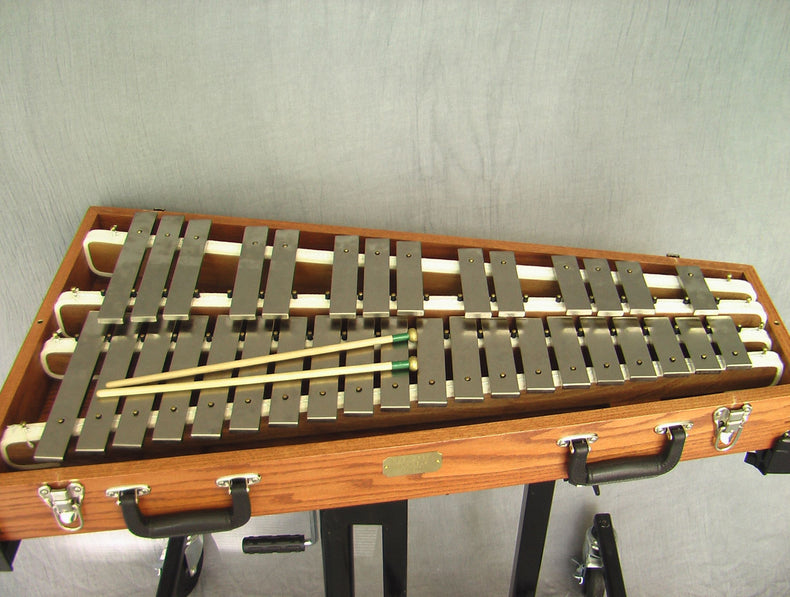 A Glockenspiel was extensively sampled and programmed as an Ableton Live Pack and Kontakt Instrument.