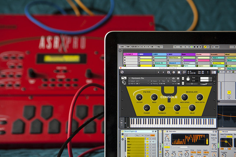 Console Y brings the ASR-X to your desktop as an Ableton Live Pack and Kontakt instrument.