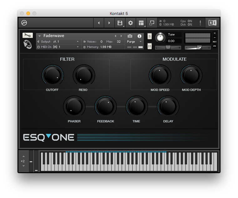 Esqone Ensoniq ESQ-1 Samples for Kontakt