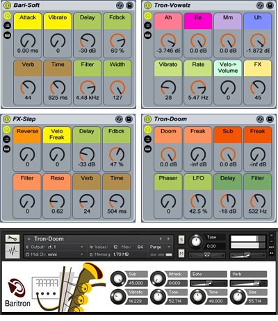 The Baritron Ableton Live Pack and Kontakt Interface.