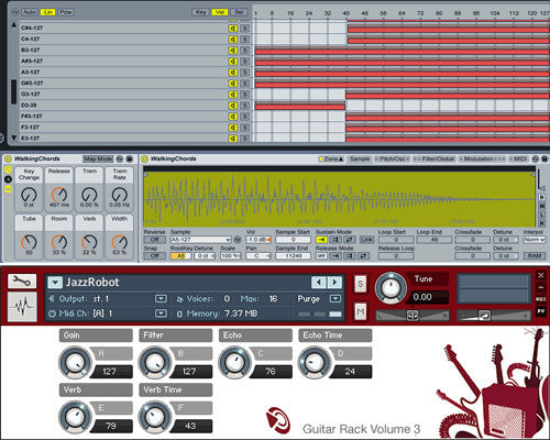 The Guitar Rack Interface for Ableton Live and Kontakt