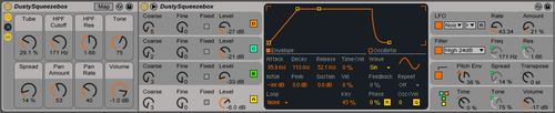Jolt is an Ableton Live Pack that adds 50 new presets to Ableton's Operator