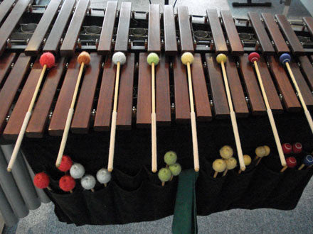 A wooden marimba was precisely recorded and programmed as an Ableton Live Pack, Kontakt and Logic Instrument