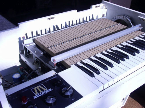 An original Mellotron was recorded with flutes, recorders and cello tapes.