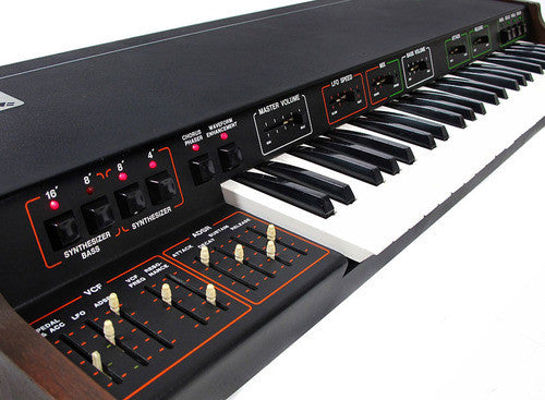 An original Arp Omni was recorded and re-prgrammed as an Ableton Live Pack, Kontakt Instrument and Logic sampled instrument.