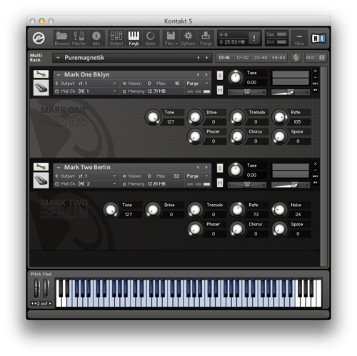 The Mark One, Fender Rhodes Kontakt Instrument